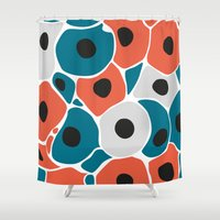 spawn Shower Curtains featuring A new start in lives 2 by S.Y.Hong
