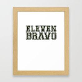 11 Bravo - US Infantry design - U.S. Military products Framed Art Print