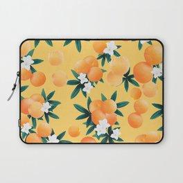Orange Twist Flower Vibes #3 #tropical #fruit #decor #art #society6 Laptop Sleeve