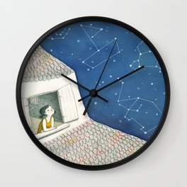 Dreamy night Wall Clock