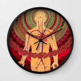 Risen Crimson Wall Clock
