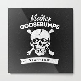 Mother Goosebumps: Storytime Skull Metal Print