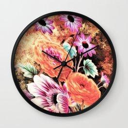 Vintage Floral Watercolor (Color) Wall Clock