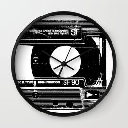 Old Cassette Wall Clock