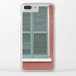 New Orleans Teal Shutters Clear iPhone Case