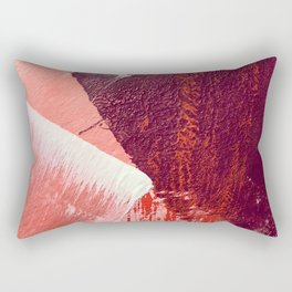 Sugar and Spice: a vibrant, minimal abstract pice in pink, red, and purple by Alyssa Hamilton Art Rectangular Pillow