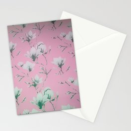 Floral Wallpaper Pink Stationery Cards