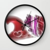 valentine Wall Clocks featuring Valentine by Fine2art