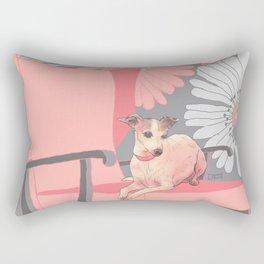 Dog in a chair #3 Italian Greyhound Rectangular Pillow