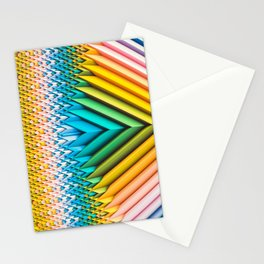 Sun Shard IV. Abstract Colorful 3d Chevron Stationery Cards