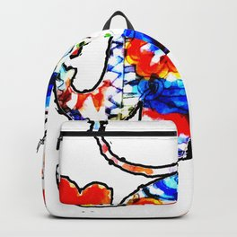 Painting of an Elephant Backpack