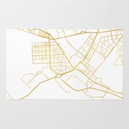 ABU DHABI UNITED ARAB EMIRATES CITY STREET MAP ART Rug