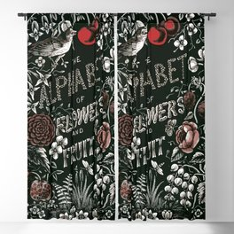 Flowers and Fruit Alphabet Blackout Curtain