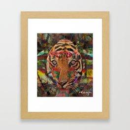 Seeing Eye Tiger Framed Art Print