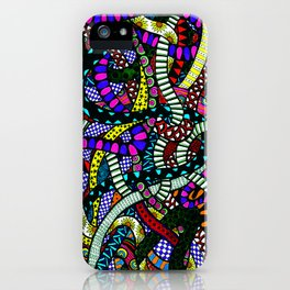 Snaking Doodles Zentangle iPhone Case