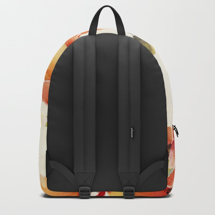 Poppy Flower Meadow- Floral Summer lllustration Backpack