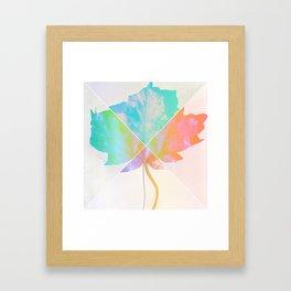 Geometric Leaf Framed Art Print