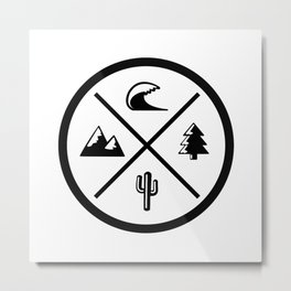 Coast to Coast Metal Print