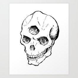 Triclops Skull Art Print