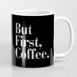 But First, Coffee Vintage Typography Print Coffee Mug