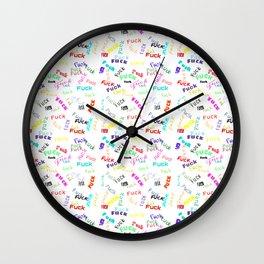 F*ck theme Wall Clock