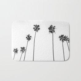 Black + White Palms Bath Mat