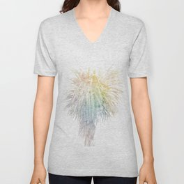 Where the sea sings to the trees - 7  Unisex V-Neck