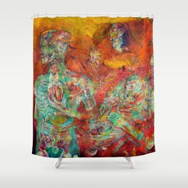 Synthetic Biology Shower Curtain