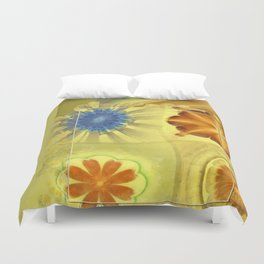 Didactic Rainbow Flower  ID:16165-120332-39891 Duvet Cover