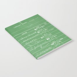 Library Card 23322 Negative Green Notebook