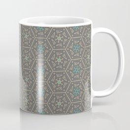 Going round and round - Orange/Taupe/Teal Coffee Mug