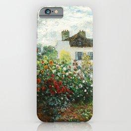 The Artist's Garden in Argenteuil - Copy from Monet iPhone Case