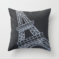 No. 58 - The Eiffel Tower Throw Pillow