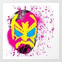 Luchador Mask.  Art Print