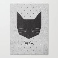 modern Canvas Prints featuring MEOW by Wesley Bird