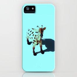 Teal Giraffe iPhone Case