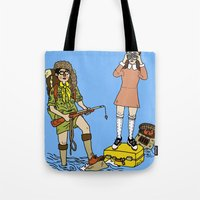 moonrise kingdom Tote Bags featuring Moonrise Kingdom by Vincent Galea