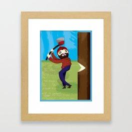 Timberjack Strike Framed Art Print