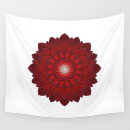 Ornamental round flower decorative element Wall Tapestry