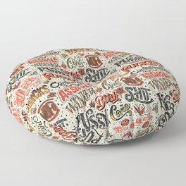 Naughty Words Floor Pillow