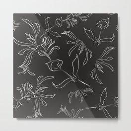 Hand Drawn Floral Metal Print