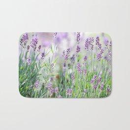 Lavender in summer garden Bath Mat