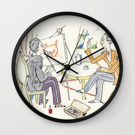 Takehisa Yumeji - Cat Road - Digital Remastered Edition Wall Clock