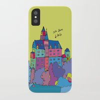 castle in the sky iPhone & iPod Cases featuring castle by PINT GRAPHICS