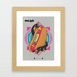 HOT-DOGS Framed Art Print