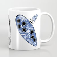 majora Mugs featuring Zelda legend - Ocarina of time by Art & Be