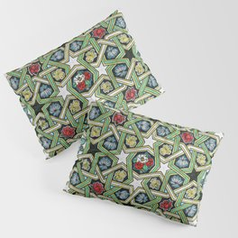 8-fold Rosettes with Flowers Pillow Sham