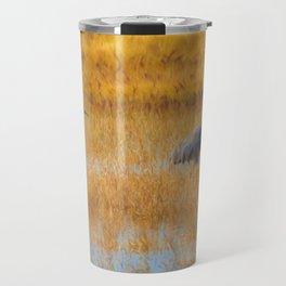 Sandhill Cranes in Fall Travel Mug