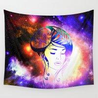 iris Wall Tapestries featuring Iris  by haroulita