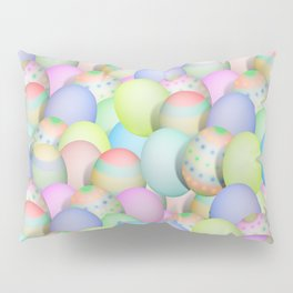 Pastel Colored Easter Eggs Pillow Sham